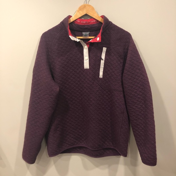WOODS Farnham Quilted Pullover Potent Purple